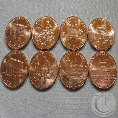 L@@K! Set of 4 Lincoln Bicentennial 2009 P Cent Pennies from OBW Rolls BU GEMS