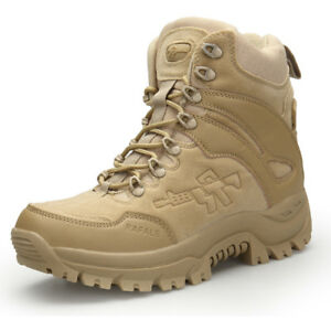d1b54d47e7 Details about Military Tactical Boots Men's Desert Combat Outdoor Army  Hiking Shoes