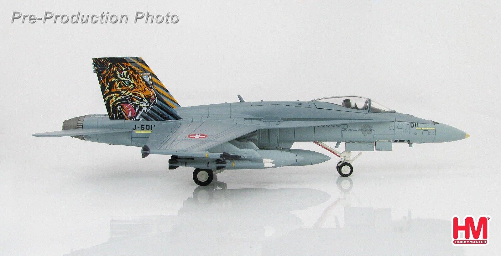 Hobby Master HA3536 1/72 F/A-18C Hornet J-5011 Swiss Air Force Tigre de la OTAN cumplir