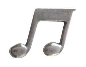 Details about Quaver or Eighth Note Pin Badge in Polished English Pewter