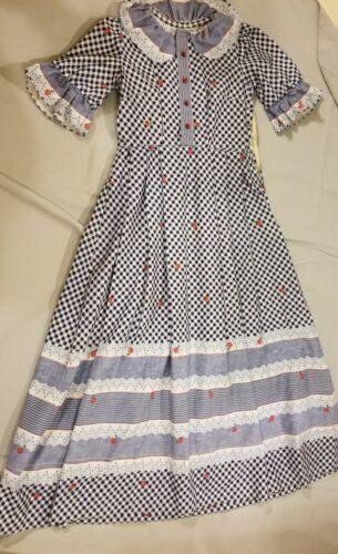 Vintage 30s Dress Long Prairie Maxi Flowy sundress