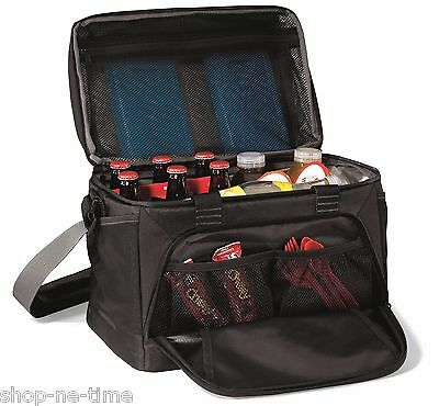 Vertex 36 Can Insulated Deluxe Large Capacity Black Cooler Bag - New