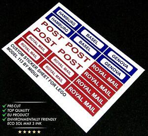 Custom Precut Autocollant/Sticker adapté pour lego 113 Motorized Train Set (1966)
