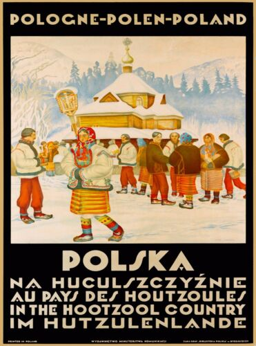 Polska Pologne Polen Poland Europe Polish Vintage Travel Art Poster Print