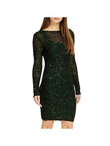 Phase-Eight-Pine-Juana-pencil-dress-Sequin-Overlay-Party-Bodycon-dress-RRP-110