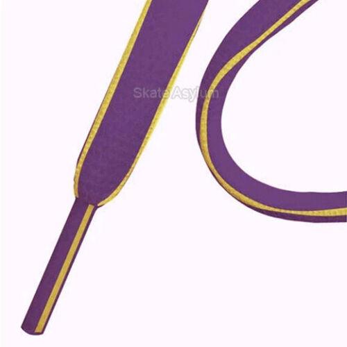 Mr Lacy Slimmies Shoe Laces Purple//Yellow