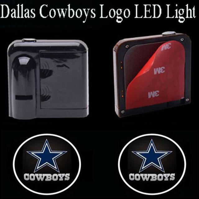 f69ffb95 2x Dallas Cowboys Logo Car Door Wireless LED Ghost Laser Projector Shadow  Light