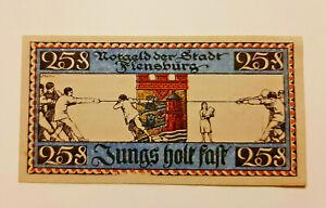 FLENSBURG-NOTGELD-25-PFENNIG-1920-NOTGELDSCHEIN-10997
