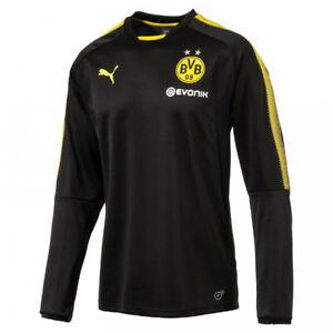 Puma-BVB-Borussia-Dortmund-Herren-Training-Sweatshirt-Shirt-Sweat-black-NEU