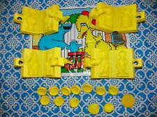 RARE 1987 Play Doh Sesame Street Character Molds Set & Mat 15+ Pc. Big Bird -X1