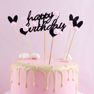 Image Is Loading PureArte Happy Birthday Cake Topper For Adults And