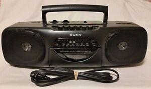 Vintage Sony CFS-B11 AM/FM Cassette Radio Boombox & AC CORD