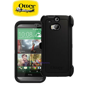 buy online b1dc7 7da5e Details about New OtterBox Defender Series Case & Holster for HTC One M8 -  Black 77-38919