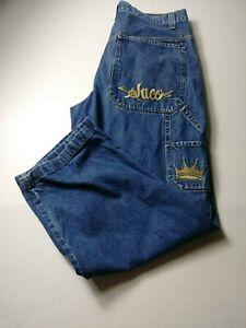 Vintage-JNCO-Mens-Wide-Leg-Skate-Rave-Jeans-Sz-38x32-Actual-37x32-Medium-Wash