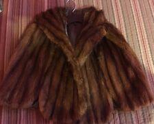 Mink Stole Vintage Style Fur Wrap Mink Vest