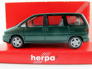 Herpa-031653-Peugeot-806-1994-1998-in-dunkelgruenmetallic-1-87-H0-NEU-OVP