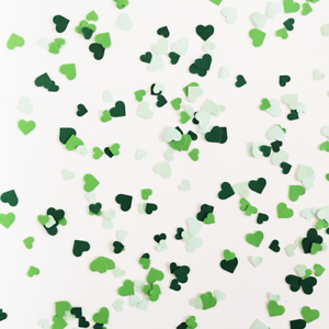 Heart Green Tone Birthday Party Craft DIY Table Decor Confetti