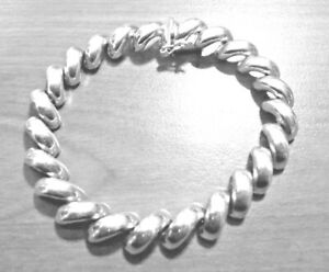 Sterling Silver Baby San Marco Bracelets and Necklaces Italian 1//4 inch