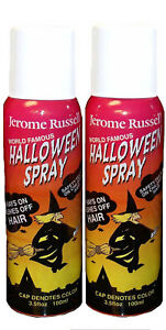 Jerome Russell Halloween Spray WHITE Temporary Hair Color TWO PACK  *Fast Ship*