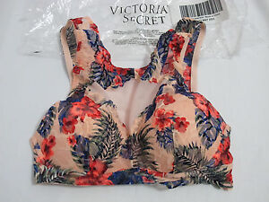6abfea1cf2 NIP Victoria s Secret Euphoria Peach Floral Lace High Neck Bra XS ...
