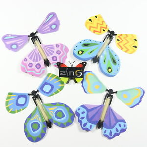 Butterfly Paper Flying Fluttering Toy Girls Boys Birthday Gift Party