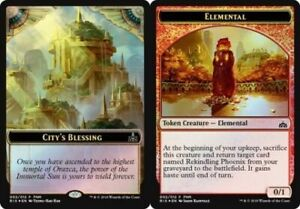 FOIL ELEMENTAL TOKEN X4 Unstable Magic MTG CARD FULL ART // ELEMENTAL 11//20