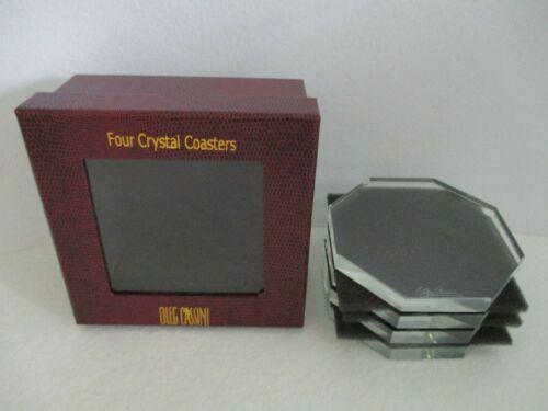 Oleg Cassini Crystal Octagon Coaster Set of 4 NIB