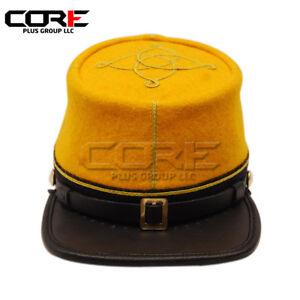 Core Plus Civil War Union 1st Lieutenant Infantry Leather Peak Kepi