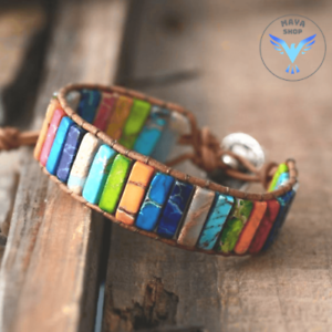 Multi-Color Natural Stone Positivity Bracelet