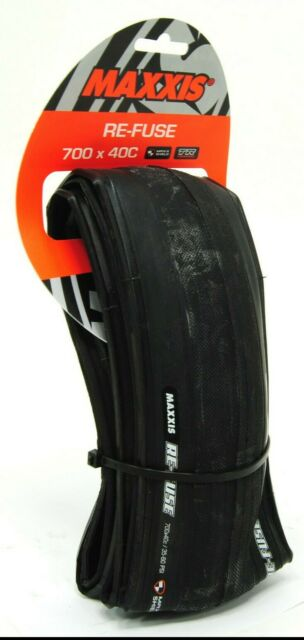 Re-Fuse Tire Folding 700 x 32 Black//Tan, Tubeless Maxxis Re-Fuse Tire
