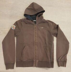 felpa-donna-AERONAUTICA-MILITARE-women-brown-hoodie-sweatshirt-size-M