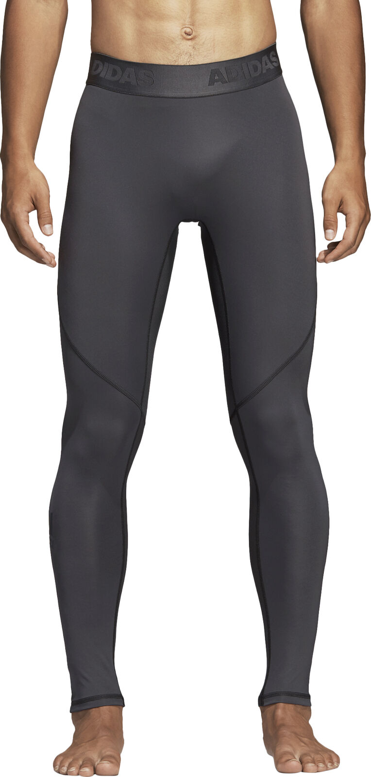Adidas AlphaSkin Sport Mens Long Training Tights - Grey