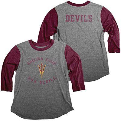 Original Retro Brand NCAA Texas A/&M Aggies Womens Slub V Neck Tee Dark Maroon Large