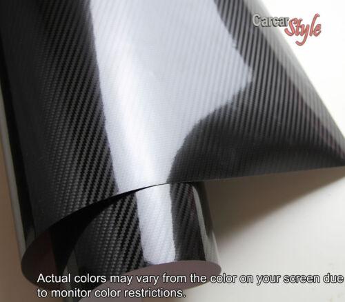 2D3D4D5D6D Gloss 3M DiNoc Scotchprint Vinyle Fibre Carbone 600mm x 1520mm Noir