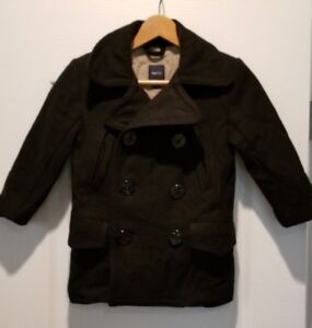 6ec47bef2 Gap Kids Wool Black Peacoat Petty Coat Boys Small Sz 5 Jacket Winter ...
