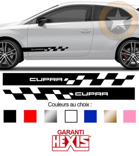 2 X BANDES PORTES DECO SEAT IBIZA LEON CUPRA SPORT AUTO VOITURE STICKER BD515-19
