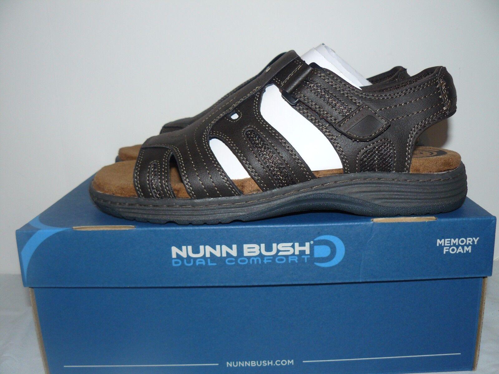 Nuevo En Caja Para Hombre Nunn Bush Ritter Doble comodidad marrón Sandalias Tamaño 9,10,11,12,13