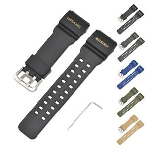Watch-Band-Strap-for-Casio-GG-1000-GWG-100-GSG-100-Rubber-Resin-Strap-Waterproof