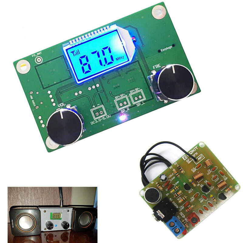 FM Transmitter Frequency Modulation Receiver Module Wireless Microphone Stereo