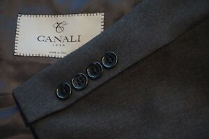 Canali-1934-CURRENT-Solid-Gray-100-Wool-Sport-Coat-Jacket-Sz-42R