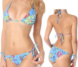 NWT-Tropical-Flower-Bikini-Bra-2pc-Set-Swimsuit-Swimwear-Size-M-L-XL-Brand-NEW