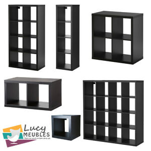 ikea kallax brun noir stockage unit d 39 affichage tag re biblioth que ebay. Black Bedroom Furniture Sets. Home Design Ideas