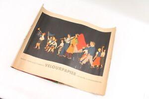 Convolute-Old-Handicraft-Paper-Velour-Tinker-Old-Vintage-Remnants-Retro