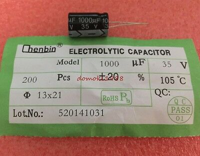 New 1000UF 35V Radial Electrolytic Capacitor
