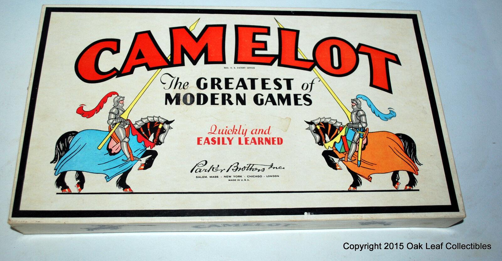 Vintage 1930 1931 Camelot Juego Parker Brojohers completo con instrucciones
