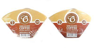 misura 2 forma a cono 200 filtri caff/è americano in carta non sbiancata EDESIA ESPRESS