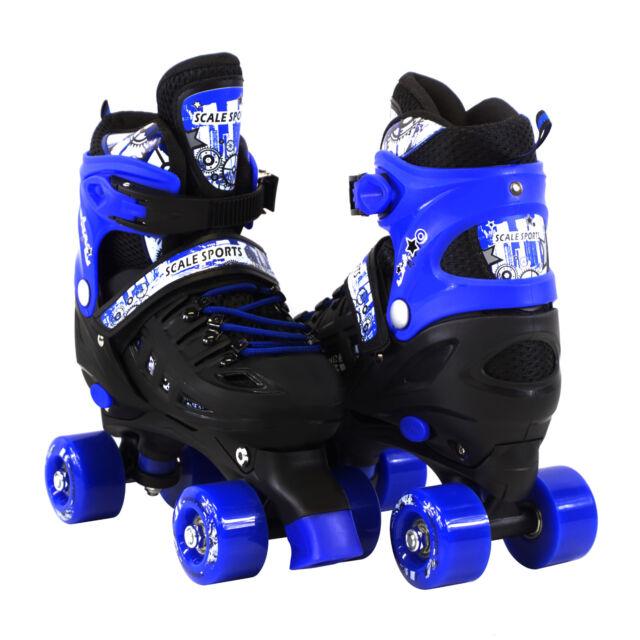 Skates For Sale >> Adjustable Quad Roller Skates For Kids Size 13 5 Junior To 9 Adult