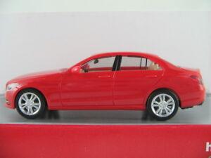 Herpa-028325-Mercedes-Benz-C-Klasse-Lim-2014-in-feueropal-1-87-H0-NEU-OVP
