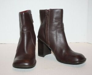 d8100c680 Tommy Hilfiger Brown Leather Women s Ankle Boots 3.5