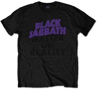 """Black Sabbath """"masters Of Reality Album"""" (nero) T-shirt-nuovo E Ufficiale!-mostra Il Titolo Originale Buono Per L'Energia E La Milza"""